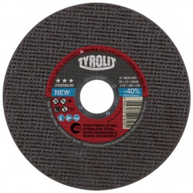 Disques à tronçonner - Premium moyeu plat - coupe inox - de 115 à 230 TYROLIT