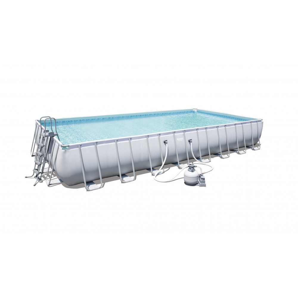Piscine tubulaire rectangulaire 956x488x132cm for Piscine rectangulaire bestway