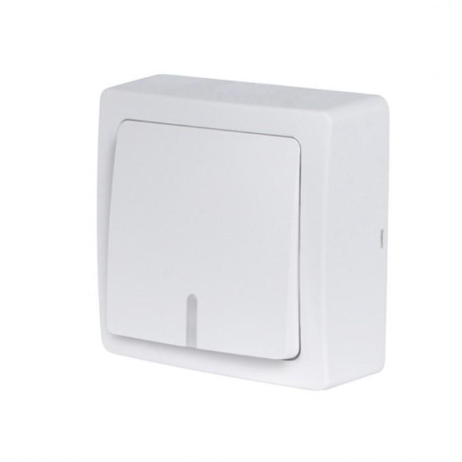 Bouton poussoir lumineux/témoin saillie complet - blanc - Blok DEBFLEX