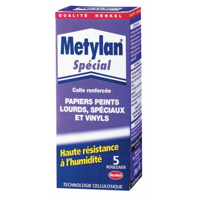 Colle papier peint - adhérence renforcée -  traitée fongicide - Metylan HENKEL
