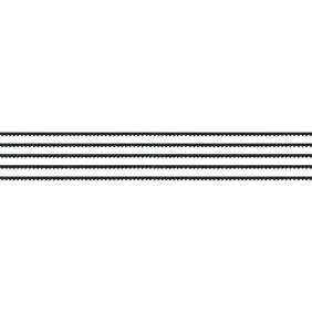 Lame 130mm pour scie 43700 - pour bois/plastique - Jeu de 5 MAXICRAFT