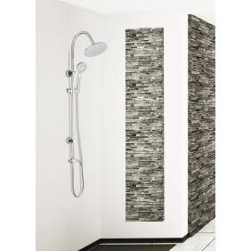 Colonne de douche sans robinetterie - douche de tête ronde DUO SMART SARODIS