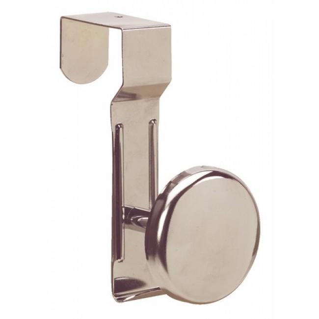 Patère clipsable sur porte acier chromé BRICOZOR