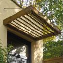 Marquise en bois pour porte d'entrée -  0,96 m² - Lumilam JARDIPOLYS