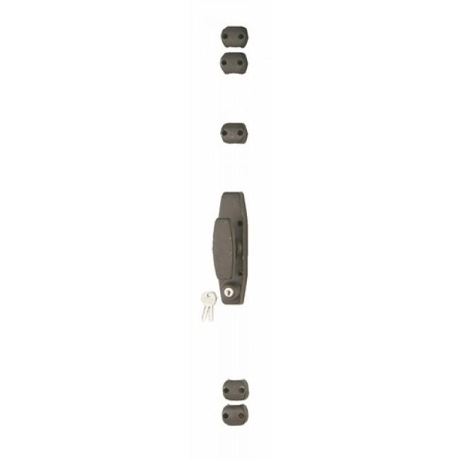 Crémone en fonte avec serrure pour fenêtre bois - RY 50 JARDINIER MASSARD
