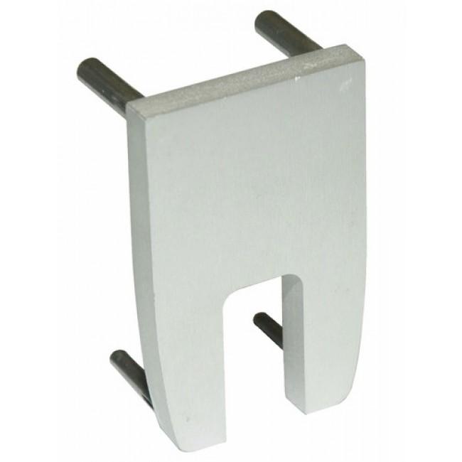 Embout cache-pinces pour vantail en verre Série Expert ROB