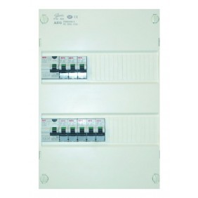 Coffret électrique pré-équipé - 2 rangées - logement entre 35 et 100 m2 AEG