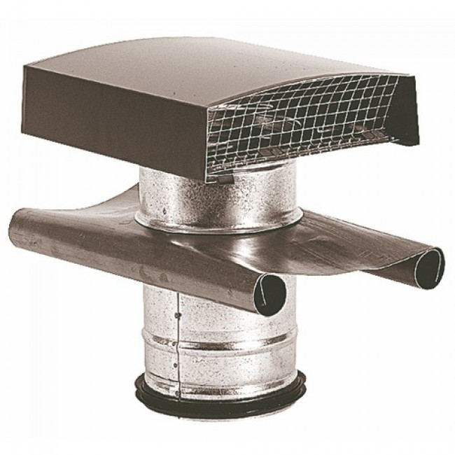 Sortie toiture alu/galva - diamètre 125 mm ATLANTIC