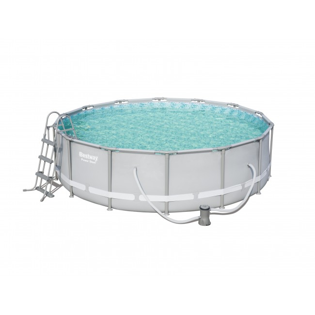 Piscine tubulaire ronde - 427x107cm - Power Steel Frame Pools BESTWAY