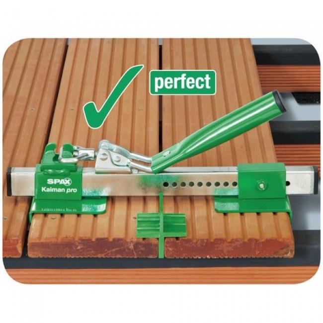 kit de pose pour terrasse bois avec redresseur de lames. Black Bedroom Furniture Sets. Home Design Ideas