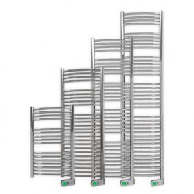 Sèche-serviettes électrique - tubes incurvés - Sygma chrome ROINTE