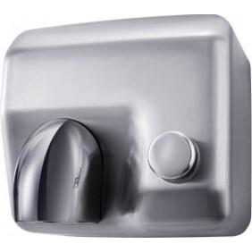 Sèche mains mural - bouton poussoir - chrome MABEL