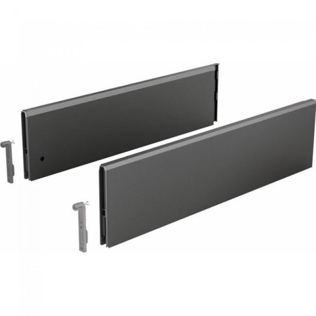 Parois latérales acier TopSide ArciTech-hauteur 124 mm-anthracite HETTICH