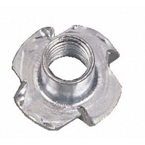 Écrous à frapper - acier zingué blanc - 100 pièces PLOMBELEC