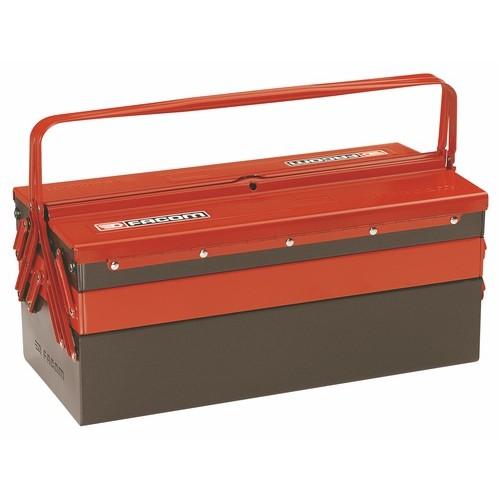 Boîte à outils métallique - 5 plateaux de rangement