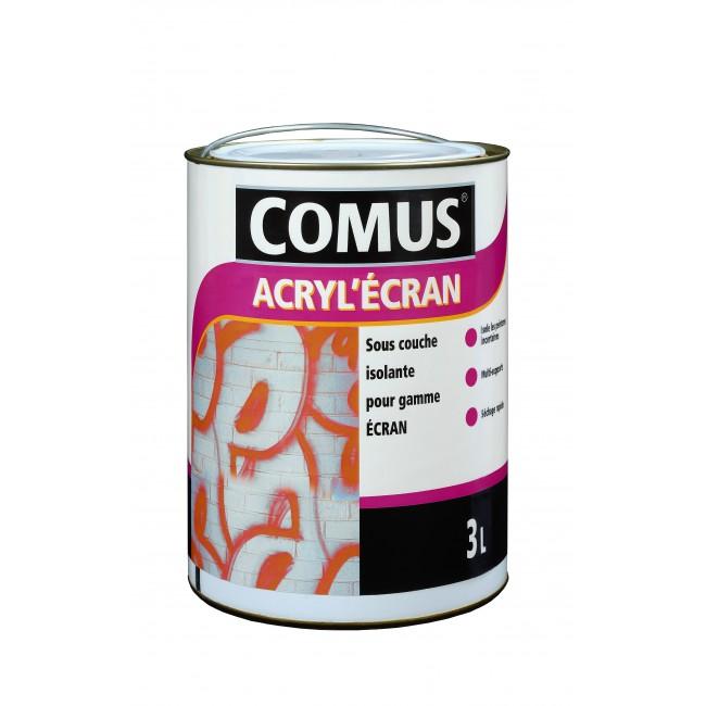 Sous-couche isolante pour support poreux  - 3 litres - Acryl Ecran COMUS