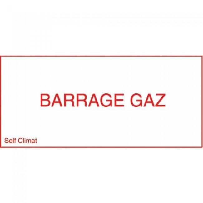 Panneau réglementaire Barrage gaz CODITHERM