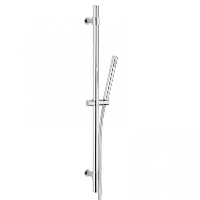 Ensemble de douche - 1 jet - flexible 1,75m - et barre chromé - design VALENTIN