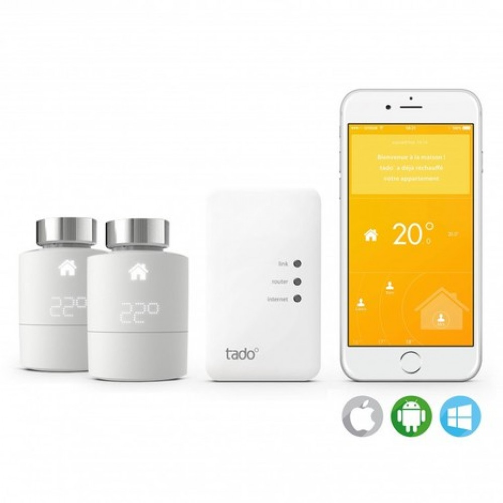pack home connect 1 thermostat 2 t tes. Black Bedroom Furniture Sets. Home Design Ideas