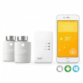 Pack Home connecté - 1 Thermostat / 2 têtes Thermostatiques  / 1 bridge TADO