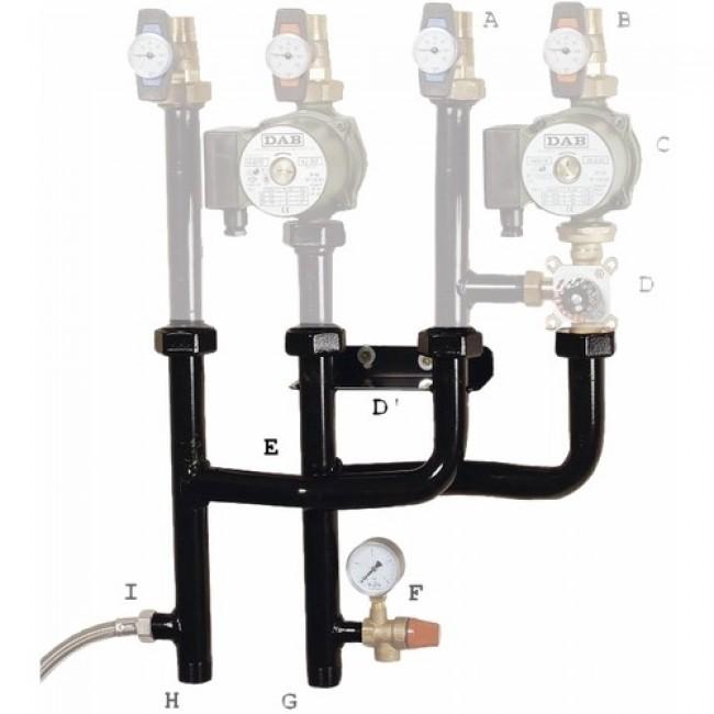 Collecteur pour kit de départ de chaudière - 3 piquages - COL3K THERMADOR