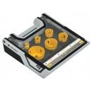 Coffret trépans bi métal Ø19-67 mm + 2 centreurs - 8 pièces PEUGEOT