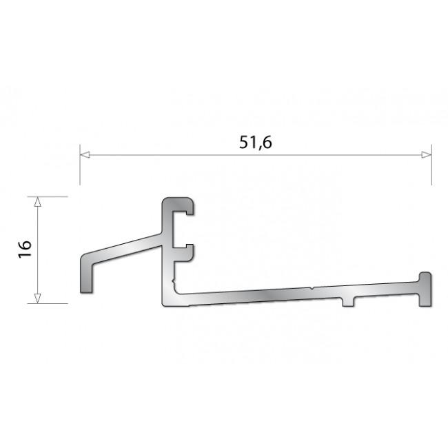 Seuil de porte d'entrée bois en aluminium- SPR BILCOCQ
