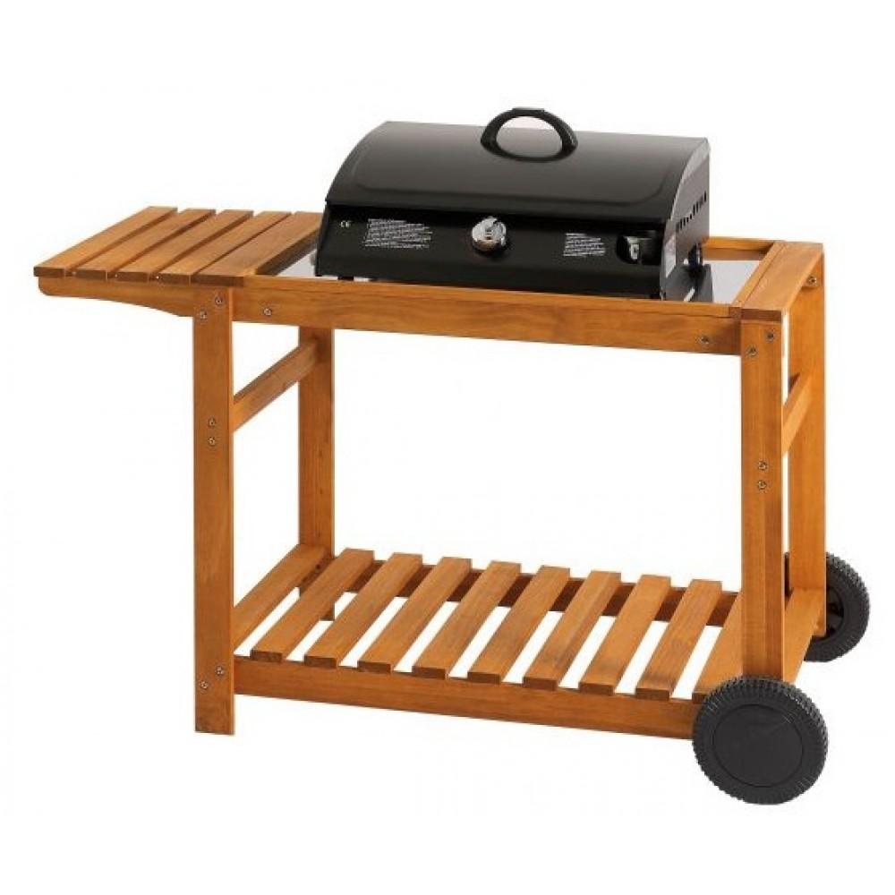 chariot en bois pour plancha favex bricozor. Black Bedroom Furniture Sets. Home Design Ideas