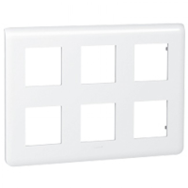 Plaque de finition horizontale Mosaic blanche - 2X3x2 modules