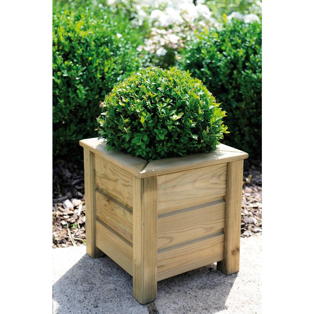 bac fleurs en bois carr 16 l avec rebords am lie 30 jardipolys bricozor. Black Bedroom Furniture Sets. Home Design Ideas