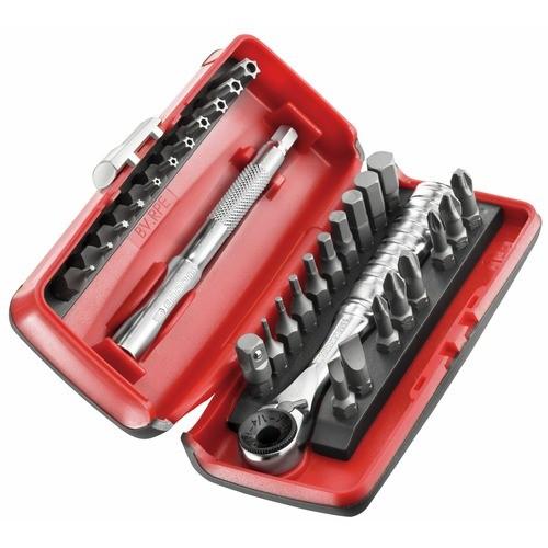 Coffret compact 31 outils : vissage, douilles radio 1/4