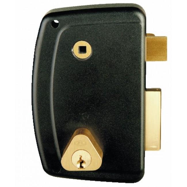 Serrure en applique verticale à fouillot - cylindre rond - Match JPM