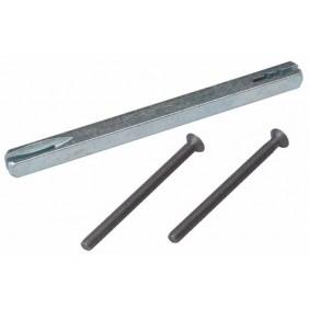 Tige carrée fendue pointeau pour poignées avec piliers taraudés BRICOZOR