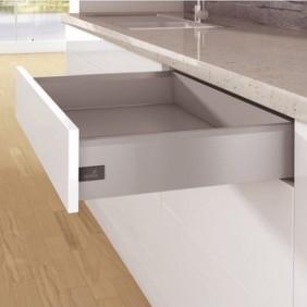 Kit tiroir simple ArciTech-profil hauteur 126 mm-argent HETTICH