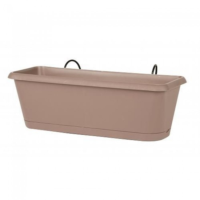 Jardinière taupe + support invisible - 2,57 litres - Chorus 11458