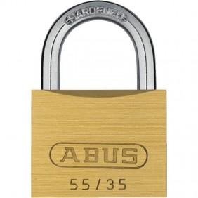 Cadenas laiton à clé - verrouillage automatique - 55/35 ABUS