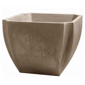 Bac à fleurs carré taupe - 110 litres - Palmea 13901 EDA PLASTIQUES