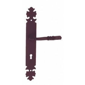 Poignées de porte sur plaque - fer noir - Bourgogne BOUVET