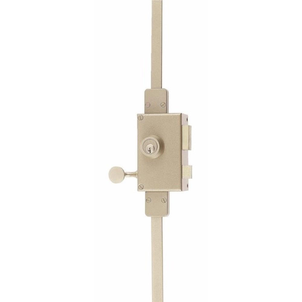 serrure en applique verticale 3 points cylindre rond. Black Bedroom Furniture Sets. Home Design Ideas