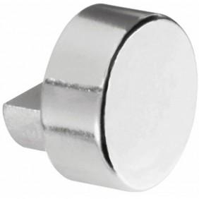 Fixation pour miroir - taquet - cabochon - forme ronde - chromé PELLET ASC
