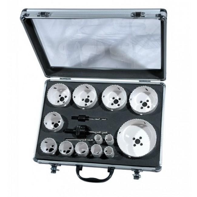 Coffret industrie 13 trépans bi-métal + accessoires LEMAN