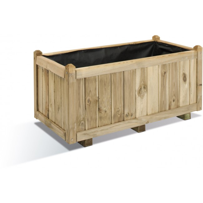 Jardinière en bois - 113 litres - 92 x 46 cm - Vendôme 100 JARDIPOLYS