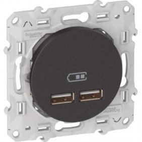 Prise chargeur USB - Odace SCHNEIDER