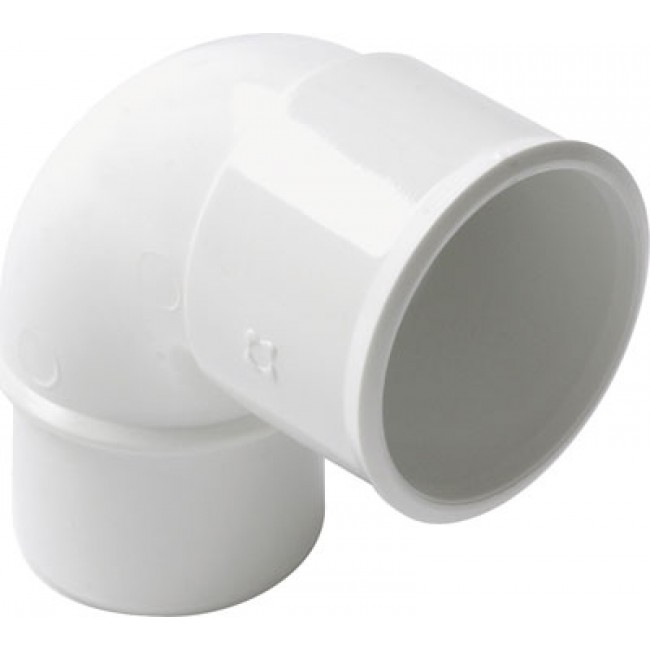 Coude PVC blanc 87°30 mâle / femelle NICOLL