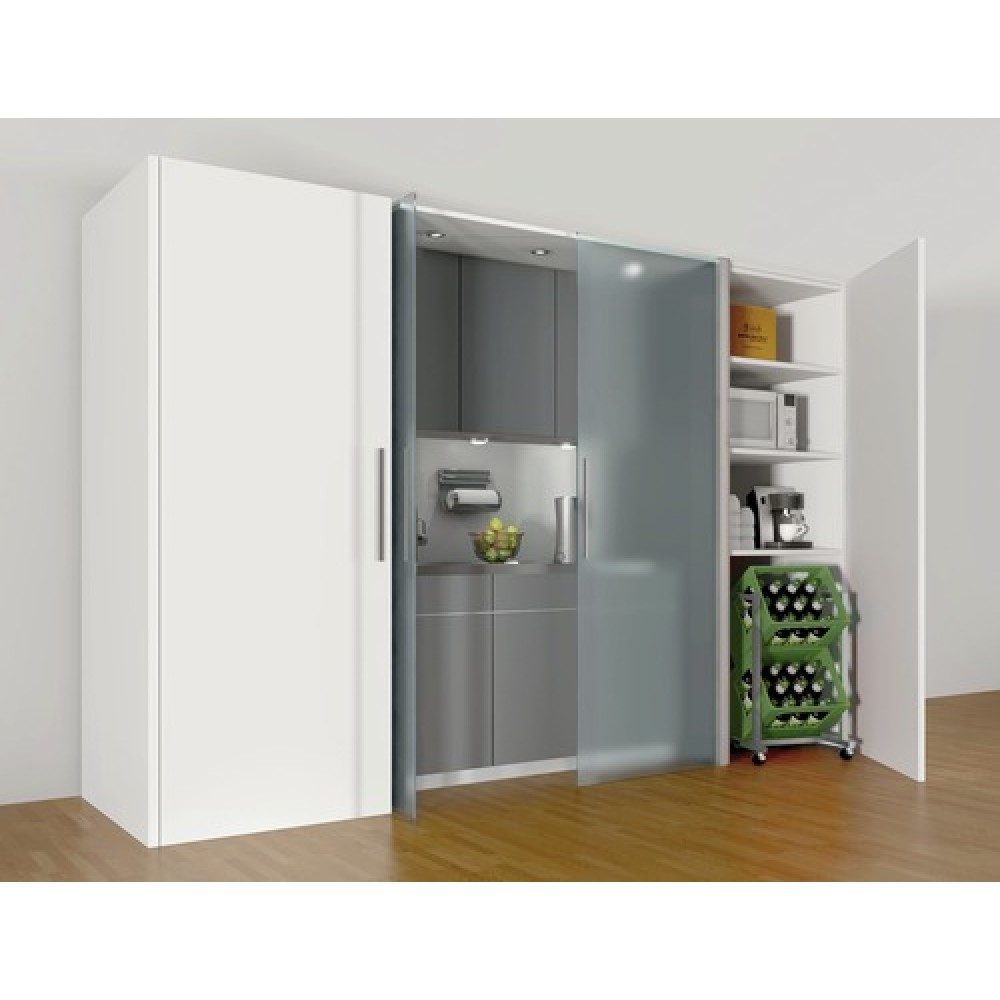 syst me porte coulissante en verre concepta vantail 25 30 50 kg hawa bricozor. Black Bedroom Furniture Sets. Home Design Ideas