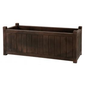 Jardinière rectangulaire - bois foncé - 155 litres - Charme 13817 EDA PLASTIQUES