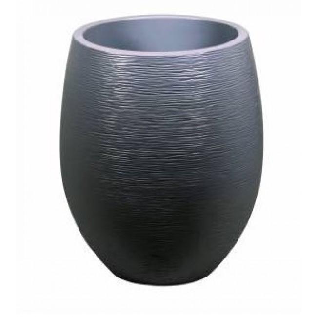 Pot rond - diamètre 50 cm - contenance 53 litres - Graphit anthracite EDA PLASTIQUES