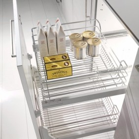 Panier haut pour tiroir de cuisine extractible - Gold 1202 S - 25 Kg INOXA