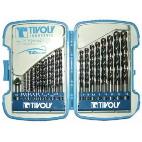 Coffrets de 25 mèches acier Bumper B TZX, 2 à 13 mm + fraise TIVOLY