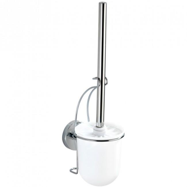 Brosse WC avec support mural - Milazzo - Acier et ABS - Fixation Vacuum-Loc WENKO